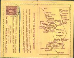 """1939, Card Lettre Per SERVICIO EXPRESO URBANO By Pneumatic Tube Canc. """"BUENOS AIRES TELEGRAFO DE LA NACION 31 AGO 39"""" - Non Classificati"""