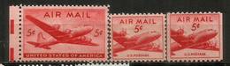 ETATS-UNIS. Douglas DC 4.  3 Timbres Poste Aérienne Neufs ** - Unused Stamps