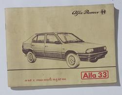 41011 Libretto Uso E Manutenzione - Alfa Romeo Alfa 33 - 1983 - Motori