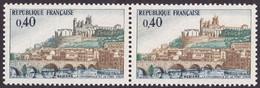 1567, Paire, Cathédrale Verte Tenant A Normal, Neuf - Varieties: 1960-69 Mint/hinged