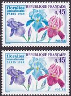 1597, Bleu Double, Neuf - Variétés: 1960-69 Neufs