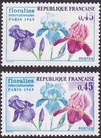 1597, Fond Bleu Et Violet Absent, Neuf, Signé Calvès - Varieties: 1960-69 Mint/hinged