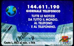 G PRP 238 C&C 3331 SCHEDA NUOVA MAGNETIZZATA GIORNALE TELEFONICO 2.000 L. - Pubbliche Speciali O Commemorative