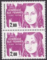 2303, Paire, 1 Timbre Tache Sur Front, Neuf - Variétés: 1980-89 Neufs