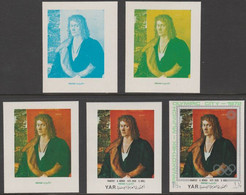 Yemen - Republic 1971 Munich Olympic Games - Paintings 1.5B Portrait By Durer Progressive Proofs Comprising 1, 2, 3, 4 C - Yemen