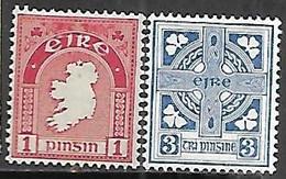 Ireland  1941    Sc#107  1p & #111  3p   MNH   2016 Scott Value $5.50 - Unused Stamps