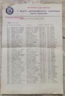 1° RALLYE AUTOMOBILISTICO NAZIONALE TAZIO NUVOLARI ACI MANTOVA MILLE MIGLIA ANNO 1954 - Apparel, Souvenirs & Other