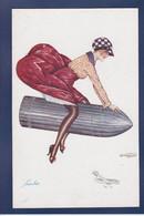 CPA Surréalisme Aviation Non Circulé Femme Women Xavier Sager - Women