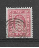 "1871 USED Danmark Dienst Mi 2-A .cancel ""17"" - Dienstpost"