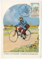 FRANCE - Carte Maximum - Journée Du Timbre 1972 - Facteur Rural à Bicyclette - 14 DEAUVILLE - 18 Mars 1972 - 1970-79