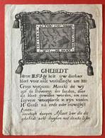 TRES GRANDE Image Pieuse - 18ième - GRAVURE GHEBEDT - VEERTIGH DAEGEN AFLAET VOOR DIE DIT GHEBEDT.... - Devotion Images