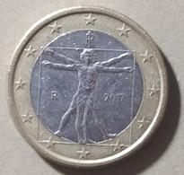 2017 - ITALIA REPUBBLICA - MONETA IN EURO - DEL VALORE DI 1,00 EURO  - USATA - Italie