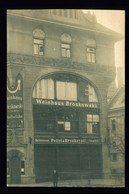 Orig. AK 1919 Ansicht Weinhaus Delikatessen Pottel & Broskowski Halle Saale, Große Ulrichstraße - Halle (Saale)