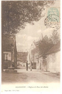 60 - Gillocourt (oise) - L'Eglise Et La Place De La Mairie - Other Municipalities
