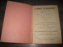 Pennautier Aude Livret D'ouvrier Né En 1905 - Zonder Classificatie
