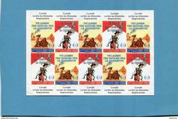 """VIGNETTE-bloc Neuf*** De 10 Vignettes**comité Des Maladies Respiratoires-tabagisme-""""""""camel  Marlboro""""""""o - Blocs & Carnets"""