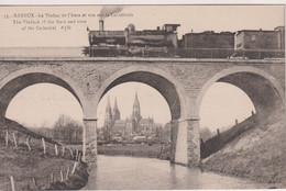 FRANCE - BAYEUX - Le Viaduc De L'Aure Et Vue Sur La Cathedrale - Superb Railway Train Etc - Bayeux