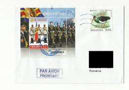 MOLDOVA 2021 CIRCULATED COVER BIRDS AND ARMY - Moldavia