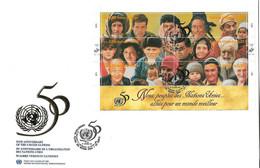 NATIONS UNIES Envelpe 1er Jour:50ème Anniversaire Des Natiions Unies  N°680 à 685  ANNEE: 1995 - Gebraucht