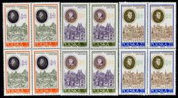 POLAND 1970 Copernicus Quincentenary II Blocks Of 4 MNH / **.  Michel 2014-16 - Unused Stamps