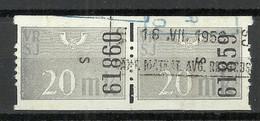 FINLAND FINNLAND 1951 Railway Stamp 20 MK As A Pair O - Paketmarken
