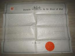1880 - Brevet Royal Britannique ( Letters Patent) De La Société Charles Denton Abel Pour 1 Appareil à Vapeur - Historical Documents