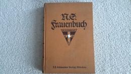 Original Buch N.S. Frauenbuch Frauenschaft 1935 Stempel DAF Gau Ost - Hannover Widmung Deutsches Reich - 1939-45