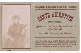 CDV CARTE DE VISITE SUPERBE PHOTOGRAPHE DUMESNIL -MARGUIN VINCENNES 94  VAL DE MARNE AVEC PHOTO ANCIENNE - Visiting Cards