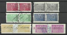 FINLAND FINNLAND 1950/52 Railway Packet Stamps As Pairs Paketmarken O - Paketmarken