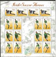Ireland 2002 Irish  Soccer Heroes, Sheet With 4x - 1435-1428  - No Gum - Folded - Nuovi