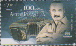 MEXICO, 2021, MNH, MUSIC, ASTOR PIAZZOLA,1v - Musica