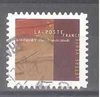 France Autoadhésif Oblitéré N°1974 (Vassily Kandinsky - Dans Le Cercle) (cachet Rond) - Oblitérés