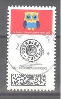 France Autoadhésif Oblitéré N°1922 (Mon Carnet De Timbre Suivis : Chouettes) (cachet Rond) - Oblitérés