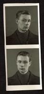 2 Photos Originales - Photobooth - Photo Identité - Photomaton - Jeune Homme - Voir Scan - Personnes Anonymes