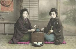Japonaises , O-KOTO-SAN REÇOIT LA LETTRE DE SON FIANCÉ À LA GUERRE DU JAPON , µ - Unclassified
