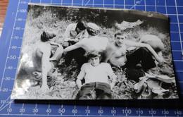 B&W Photo Portrait Man Boy Garcon Summer Village 12d21 - Personnes Anonymes