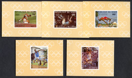 Niger, 1984, Olympic Summer Games Los Angeles, Athletics, MNH Deluxe Sheets, Michel 876-880 - Niger (1960-...)