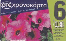 GREECE - Flowers, OTE Prepaid Card 6 Euro, Tirage 70000, 09/08, Used - Fiori