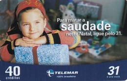 BRAZIL(Telemar) - Christmas 2003, 12/03, Used - Natale