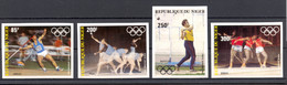 Niger, 1983, Olympic Summer Games Los Angeles, Athletics, MNH Imperforated, Michel 846-849B - Niger (1960-...)