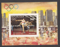 Niger, 1984, Olympic Summer Games Los Angeles, Hurdles, Athletics, MNH Imperforated, Michel Block 41B - Niger (1960-...)