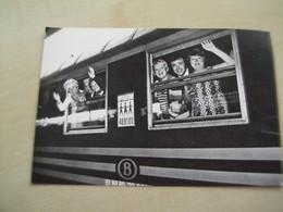Carte Ancienne Dédicaces PAULE HERMAN ET ANIMATEURS TV Opération 48.81.00 Dans Train - Otras Celebridades