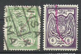 FINLAND FINNLAND 1938/44 Railway Stamps Lovisa Wesijärvi 1 & 6 MK O - Paketmarken