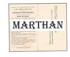 DOODSPRENTJE NACHTEGAELE EUPHRASIE ECHTGENOTE DE GROOTE WORTEGEM 1881 - 1956 - Andachtsbilder