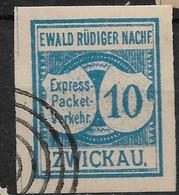 Deutsche Privatpost Zwickau,  Guter Wert Der Ausgabe Express-Packet-Verkehr-Gesellschaft Von 1889 - Private