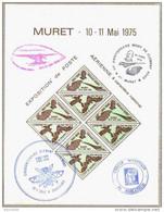 1975 MURET BLOC Oblitéré Cinquantenaire Décès Clément ADER Expo Aérienne Nationale - Aviation