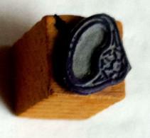 Bijou, Bague, Ancien Tampon Scolaire à Imprimer, Cube Bois - French Antique Rubber Stamp - Ring, Jewelry - Scrapbooking