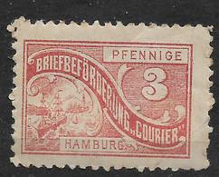 Deutsche Privatpost Hamburg,  Guter Wert Der Ausgabe Courier-Gesellschaft Von 1889 - Private