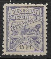 Deutsche Privatpost Hohenstein-Ernstthal,  Guter Wert Der Privat-Packet-Verkehr-Gesellschaft Von 1891 - Private