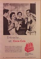 Publicité Papier 1960 Coca Cola Boisson Entracte Spectacle 12, 5 X 18, 5 Cm - Altri